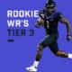 Rookie WRs Tier 3